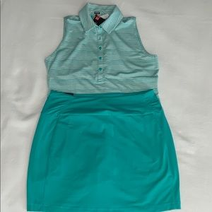 NWT Under Armour golf shirt and skort outfit